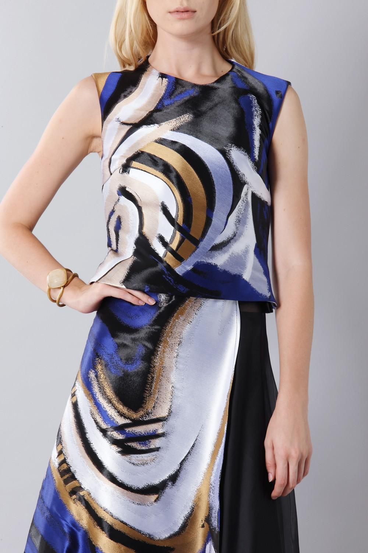 Vendita Abbigliamento Usato FIrmato - Top con toni a contrasto - Vionnet - Drexcode -2
