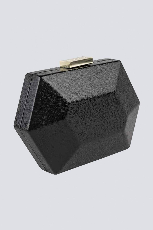 Clutch nera geometrica