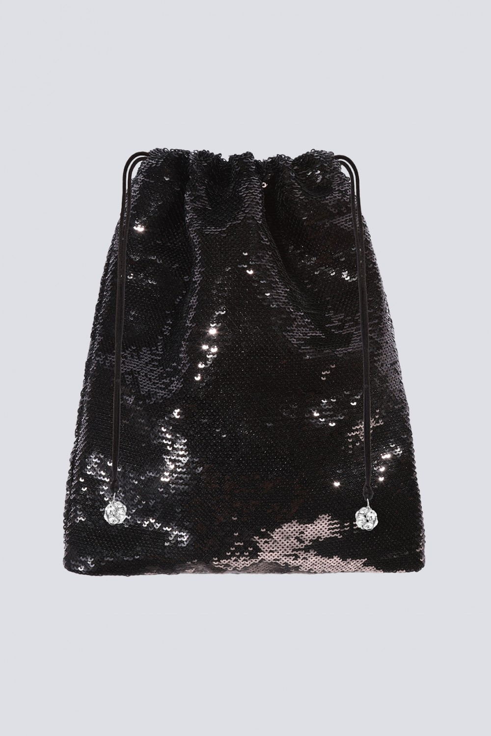 Pouch Bag in paillettes nera
