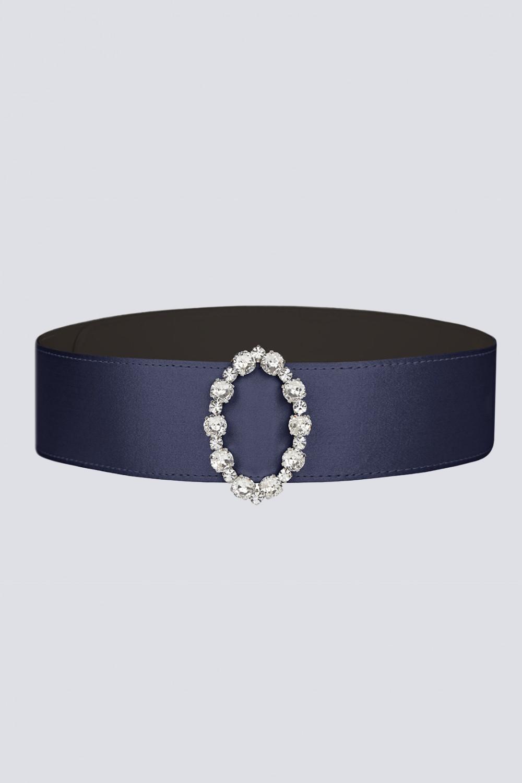 Cintura in seta e fibbia ovale