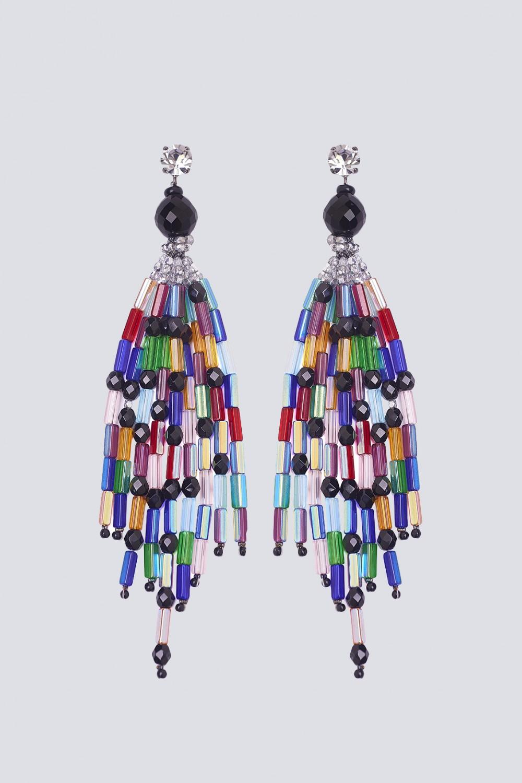 Orecchini pendenti multicolor