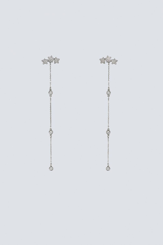 Pendenti argento lunghi con stelline