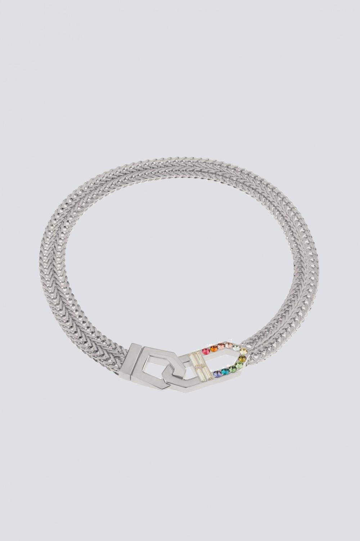 Collana con finiture argento