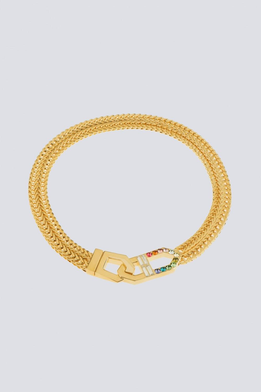 Collana con finiture oro giallo