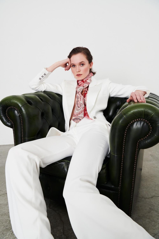 Completo giacca pantalone bianco