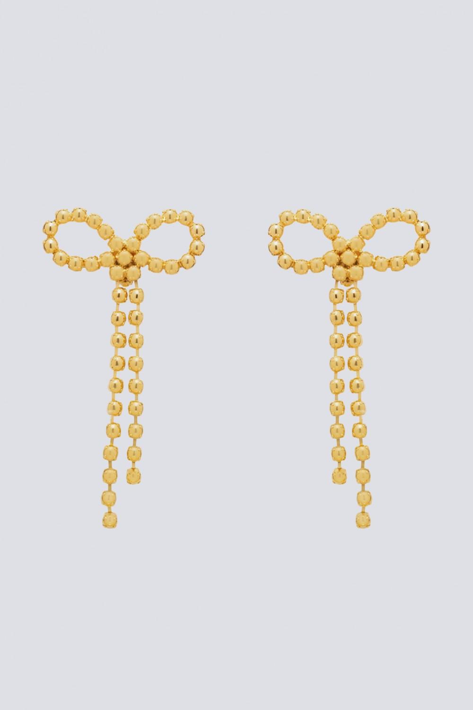 Maxi orecchini in ottone con finitura in oro giallo
