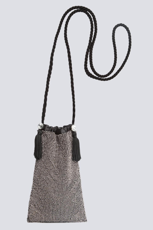 Micro pouch bag con cristalli