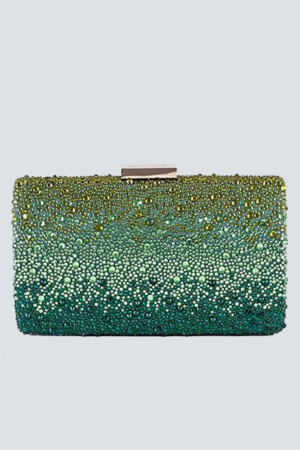 Clutch verde degrade con glitter