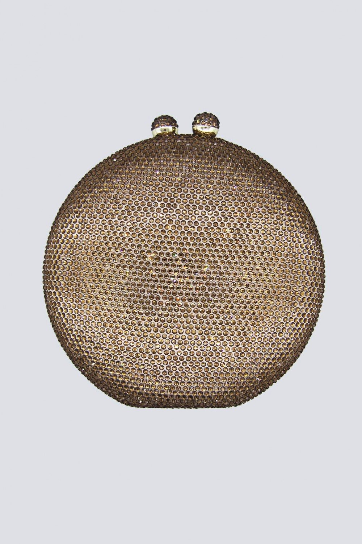 Clutch bronzo con pietre