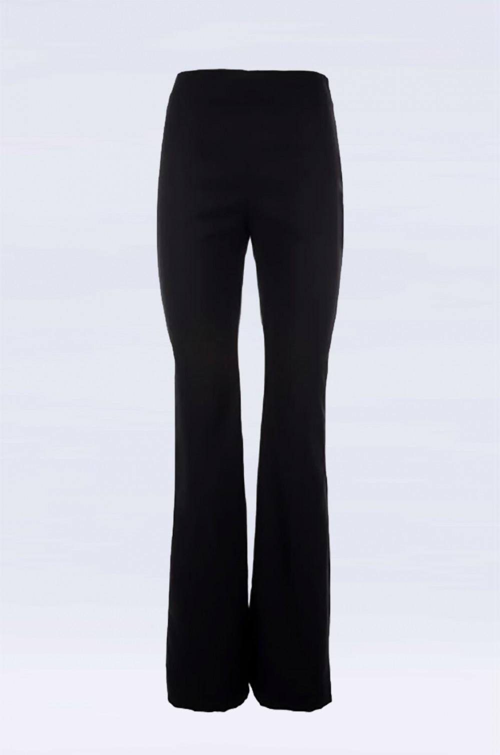 Pantalone nero a vita alta
