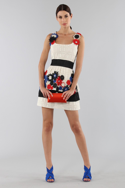 Vendita Abbigliamento Usato FIrmato - Abito ricamato con fiori applicati - Emanuel Ungaro - Drexcode -1