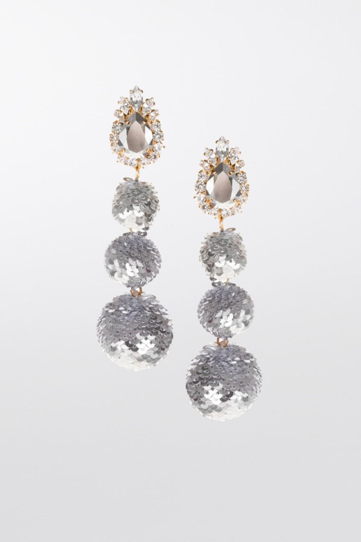 Orecchini in paillettes argento