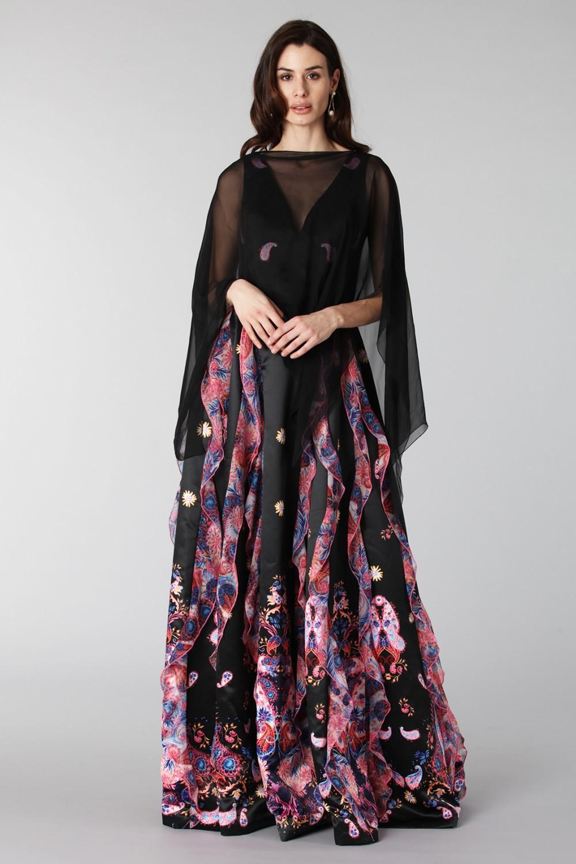 Copri abito in chiffon nero