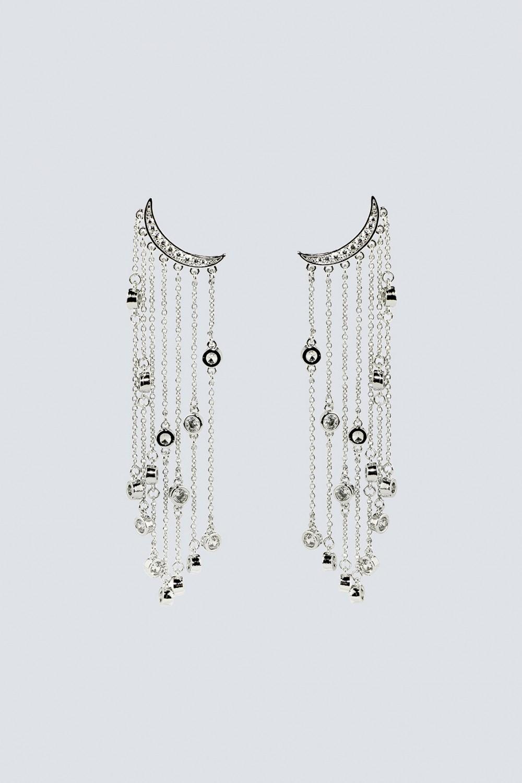 Orecchini multipendenti argento lunghi
