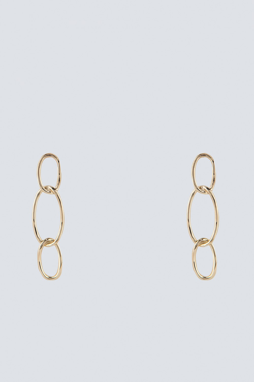 Orecchini oro con pendenti ovali