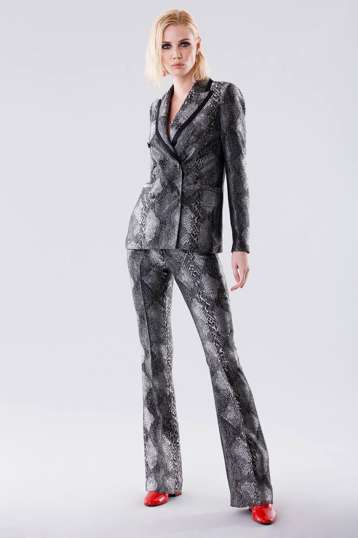 Completo giacca e pantalone con motivo pitonato