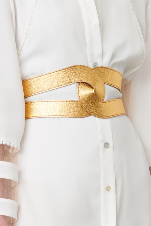 Cintura in pelle oro