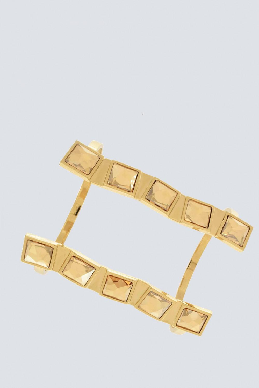 Bracciale maxi cuff con pietre chiare