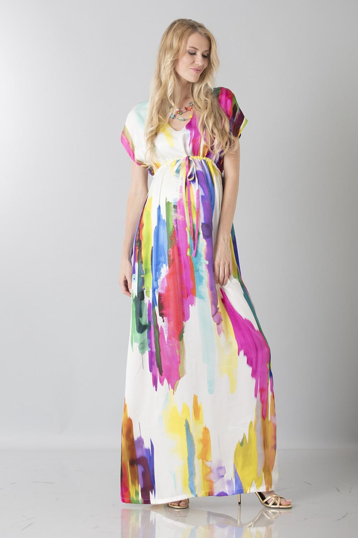 Caftano multicolor premaman
