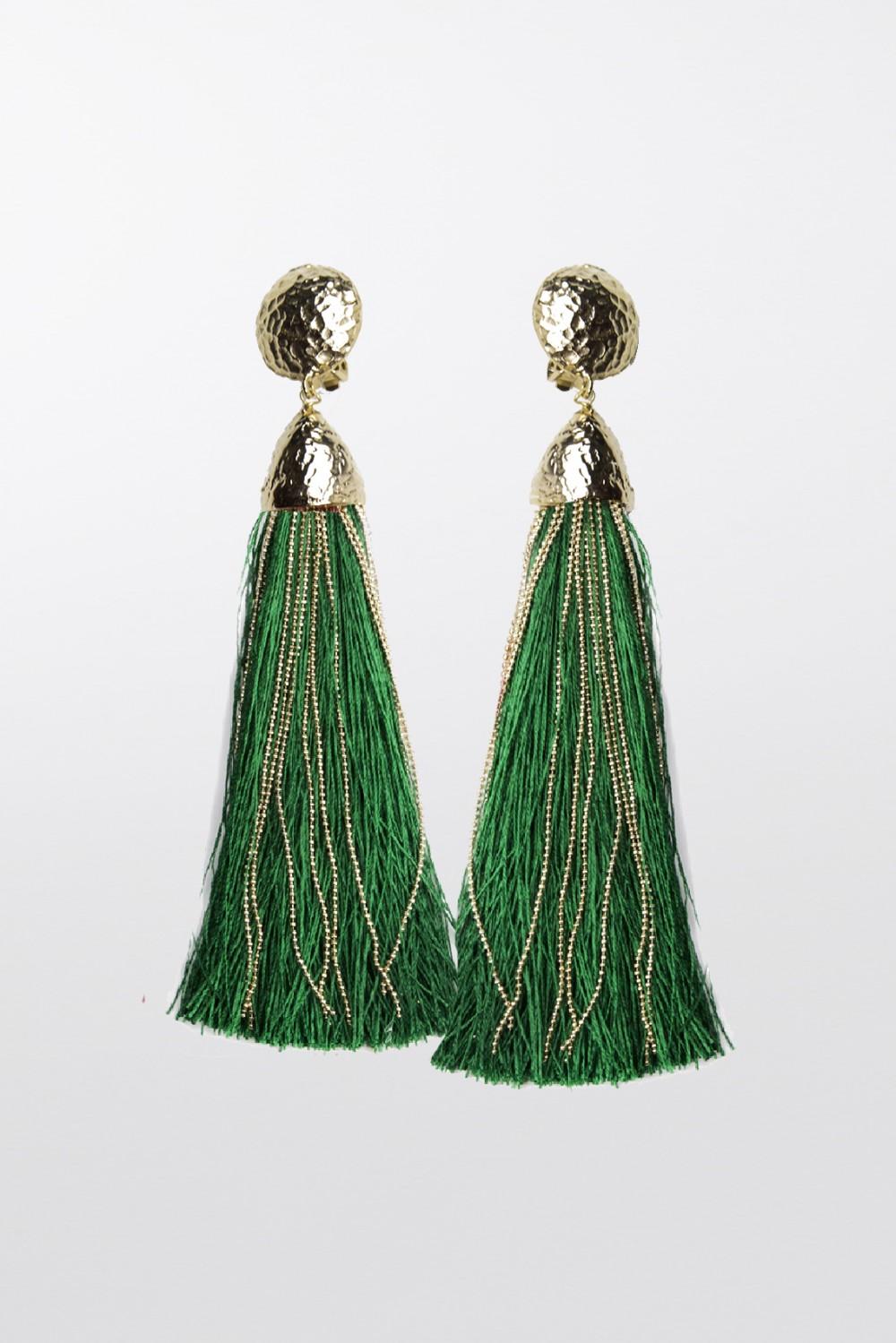 Vendita Abbigliamento Usato FIrmato - Orecchini in corda oro e verde - Rosantica - Drexcode -1