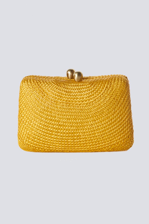 Clutch gialla in paglia