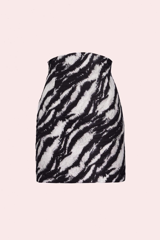Minigonna in stampa zebra