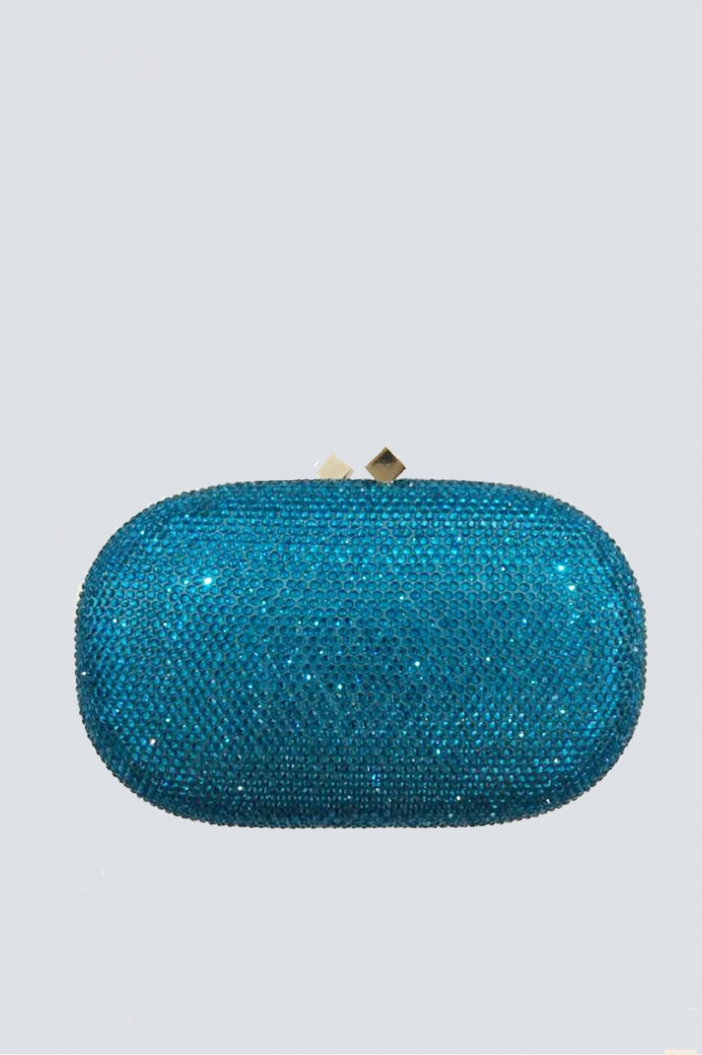 clutch turchese con strass