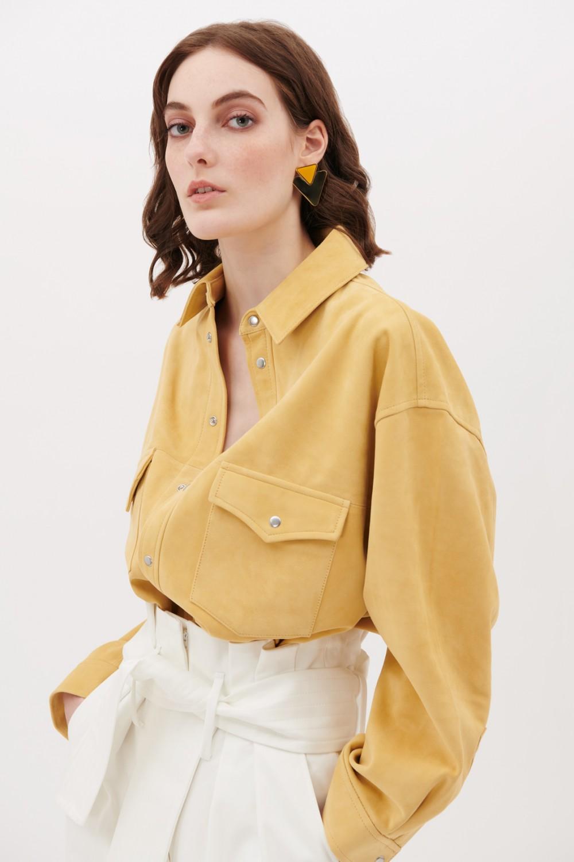 Camicia in suede gialla