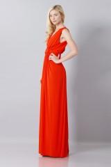 Drexcode - Abito rosso in seta con spacco - Vionnet - Noleggio - 4