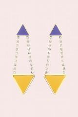 Drexcode - Orecchini triangolo in strass e resina - Sharra Pagano - Noleggio - 1