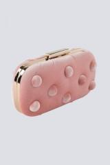 Drexcode - Clutch rosa in velluto - Anna Cecere - Noleggio - 2