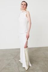 Drexcode - Abito bianco con rouches frontale - Kathy Heyndels - Noleggio - 2