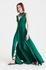 Drexcode - Abito lungo verde in satin - Kathy Heyndels - Vendita - 1