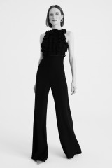 Drexcode - Jumpsuit nera in crepes con rouches - Kathy Heyndels - Vendita - 1