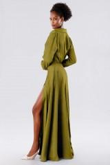 Drexcode - Abito verde con bottoncini laterali - Kathy Heyndels - Vendita - 2