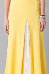 Drexcode - Abito giallo monospalla con strascico anteriore - Vionnet - Vendita - 8