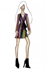 Drexcode - Wrap dress con paillettes mullticolori - Drexcode - Noleggio - 8