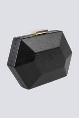 Drexcode - Clutch nera geometrica - Anna Cecere - Noleggio - 1