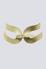 Drexcode - Cintura in pelle oro - Maison Vaincourt - Vendita - 2