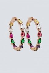 Drexcode - Orecchini a cerchio con pietra multicolore - Nickho Rey - Vendita - 1