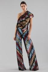 Drexcode - Completo pantalone e top in paillettes - Alcoolique - Vendita - 7