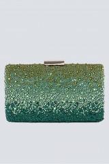 Drexcode - Clutch verde degrade con glitter - Anna Cecere - Noleggio - 4