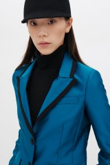 Drexcode - Completo giacca e pantalone turchesi in satin - Giuliette Brown - Vendita - 2