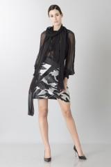 Drexcode - Completo con camicia nera in seta e gonna lavorata - Blumarine - Noleggio - 1