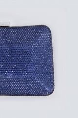 Drexcode - Clutch curva blu con strass - Anna Cecere - Noleggio - 2