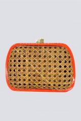 Drexcode - Clutch in vimini con bordo arancione - Serpui - Vendita - 1