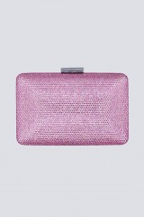 Drexcode - Clutch piatta rosa con strass - Anna Cecere - Noleggio - 1
