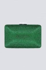 Drexcode - Clutch piatta verde con strass - Anna Cecere - Vendita - 1