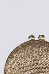 Drexcode - Clutch bronzo con pietre - Anna Cecere - Noleggio - 2