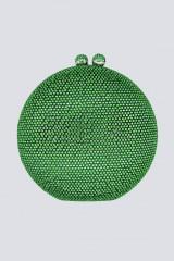 Drexcode - Clutch tonda verde con pietre - Anna Cecere - Noleggio - 1